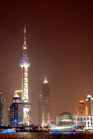 Oriental Pearl TV Tower Shanghai China iPhone Wallpaper