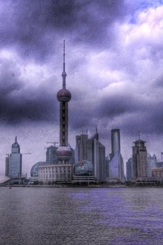 Pudong Bund iPhone Wallpaper