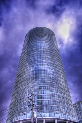 HDR Tower iPhone Wallpaper
