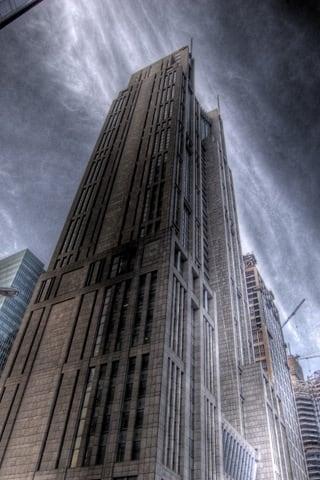 Old Shanghai Skyscraper iPhone Wallpaper