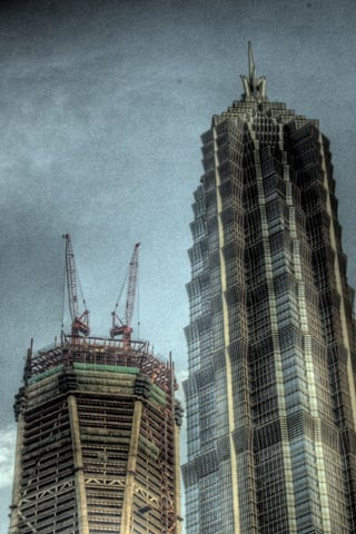 Unfinished Business iPhone Wallpaper HDR Shanghai Pudong