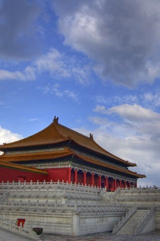 Forbidden City Beijing Hengdian HDR iPhone Wallpaper
