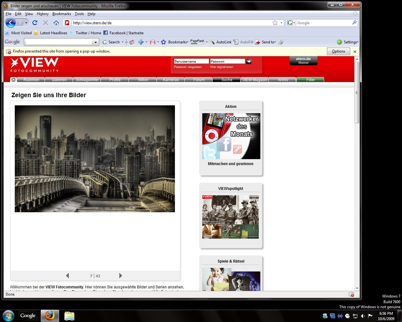 View Frontpage